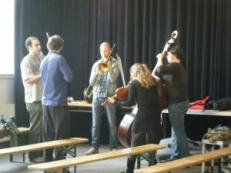 Warming up to perform in the Winners Concert