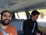 Inside the van is very spacious